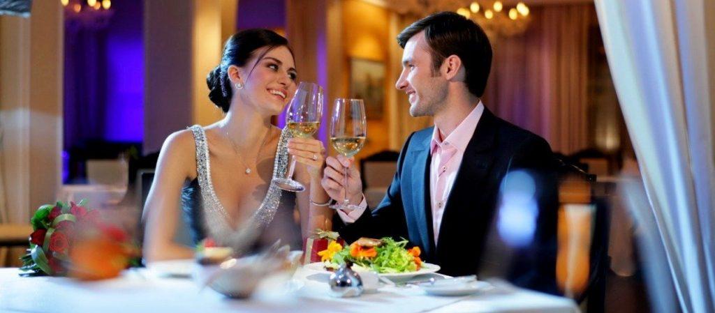 романтический ужин за городом