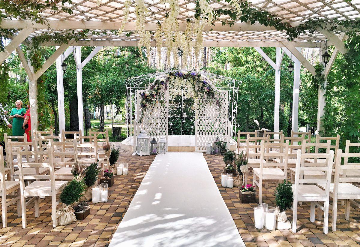 свадьба на летней террасе